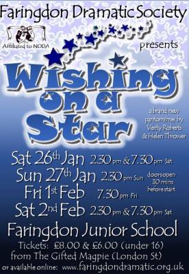 Faringdon performing arts students in panto at Faringdon Junior School