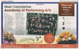 Oxford Mail - West Oxfordshire Academy of Performing Arts