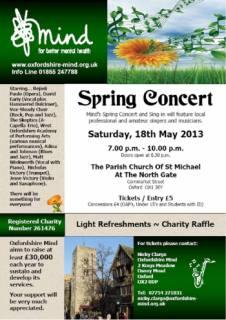 Oxfordshire MIND Spring Concert 2013