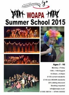 Singing Dance Drama Summer Holiday Performing Arts scheme for children aged 7 - 16yrs in Witney near Oxford
