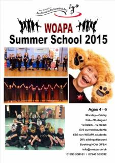Summer Holiday School - Performing Arts - Singing / Dance scheme for children aged 4 - 6 yrs in Witney Oxfordshire