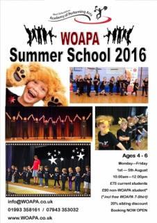Children's Summer School Witney Oxford Singing Dance Drama