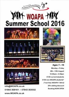 Children Singing Dance Drama Witney Oxford - Musical Theatre Summer School for ages 7-16yrs